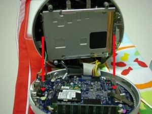 液晶iMacフラットパネル裏側分離