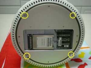 液晶iMacフラットパネル裏側4つのネジ